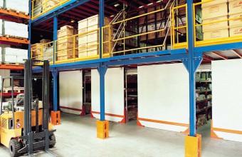 El sistema de almacenamiento de alta gama de Metalcad Storage System. Entreplanta desmontable sin limitaciones geométricas ni de carga. Altillos ideales para uso industrial, naves y fábricas.
